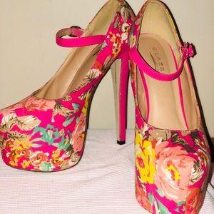 Glaze Flower High Heels 8.5